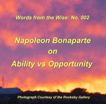 Words from the Wise: 002 – Napoleon Bonaparte